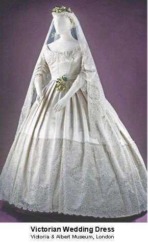 Victorian wedding dress from Victoria and Albert Museum, London