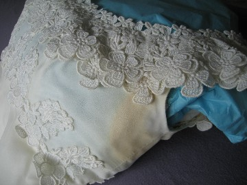 Never seal a wedding gown heritage garment preservation for Wedding dress stain removal