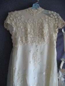 Winters Before wedding dress restoration Bodice