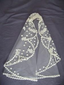 Winters veil After wedding gown restoration