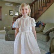 Third Generation Communion Dress Restoration