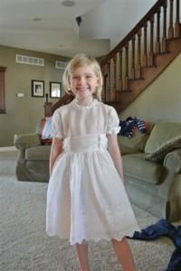 After Restoration Communion Dress