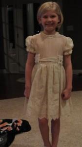 Before restoration Communion dress