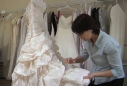 Every wedding dress is carefully inspected for your wedding dress cleaning and preservation