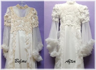 Expert wedding dress restoration
