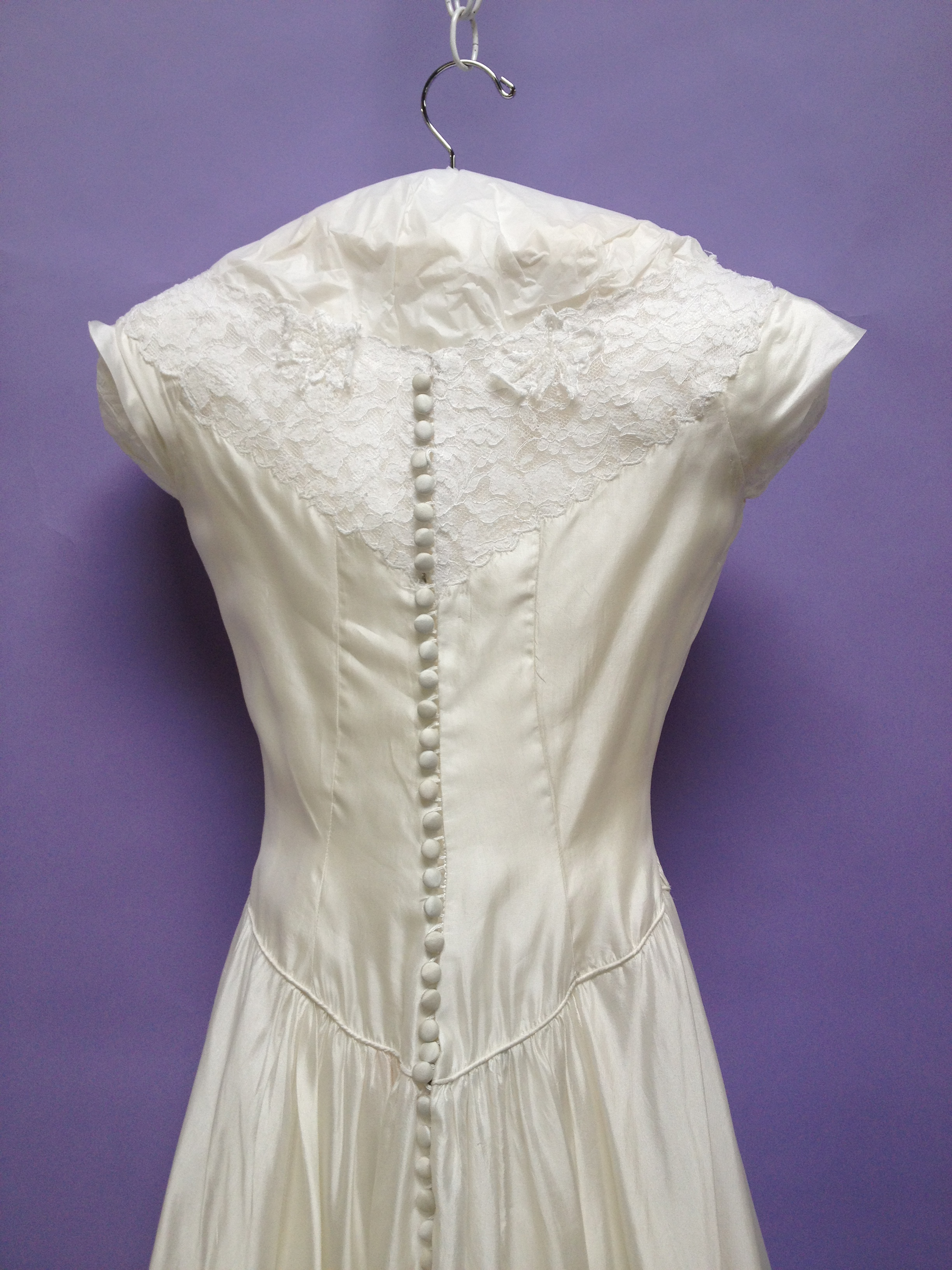 Patricia\'s Wedding Gown Restoration A Success | Heritage Garment ...