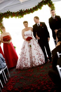 Danielles beautiful wedding dress