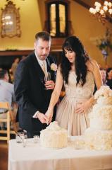 Annie and Chris cutting cake