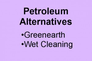 Greenearth and wetcleaning are excellent alternatives to petroleum solvent for cleaning wedding gowns