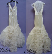 A Wedding Gown Cleaning of a Vera Wang Gown