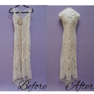 Gorgeous Lace Gown and Veil Restored