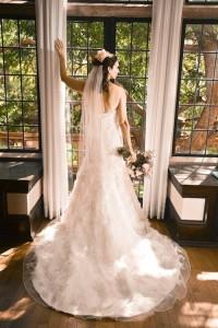 wedding dress back - Jennifer's wedding dress story