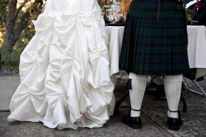 Ashley's husband wore an awesome kilt!