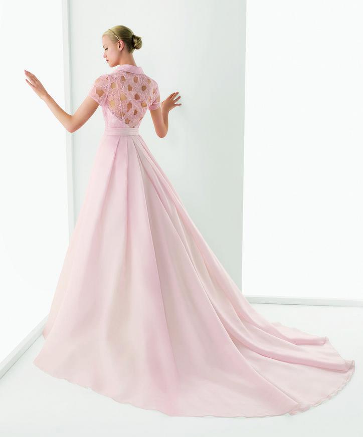 """Wedding gown by <a href=""""http://www.rosaclarabridal.com/"""">Rosa Clara</a>"""