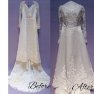A Wedding Gown Cleaning for a Vintage Dress