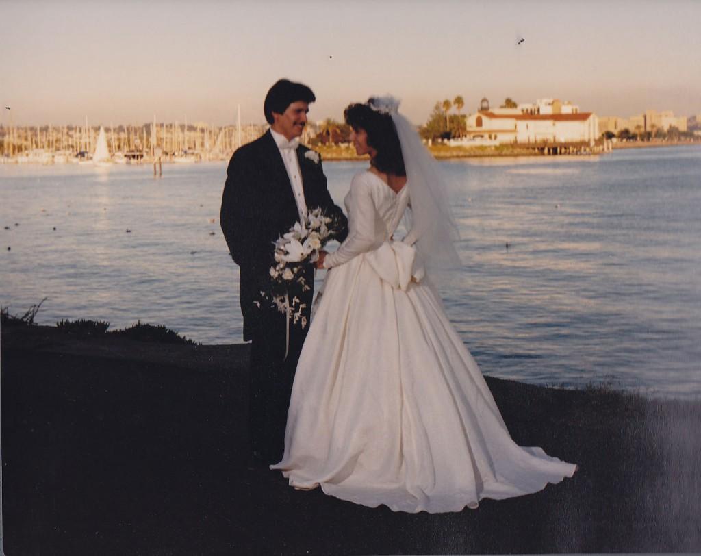 Cyndi and Joe Villalobos celebrated their wedding on December 17, 1988.