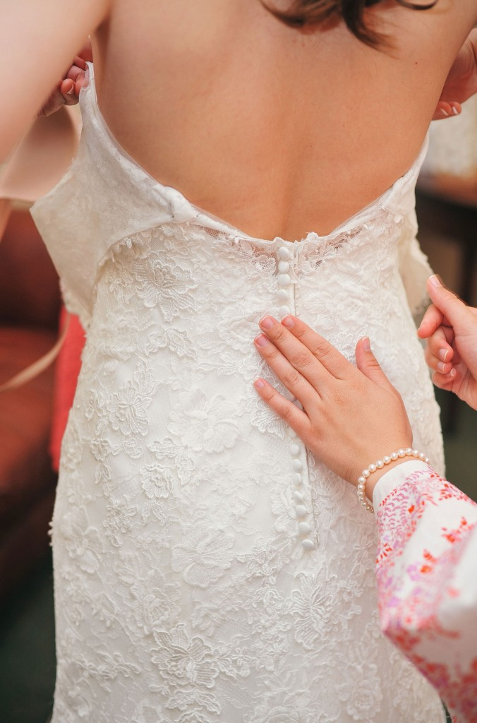The Maggie Sottero dress was perfect for Caroline.