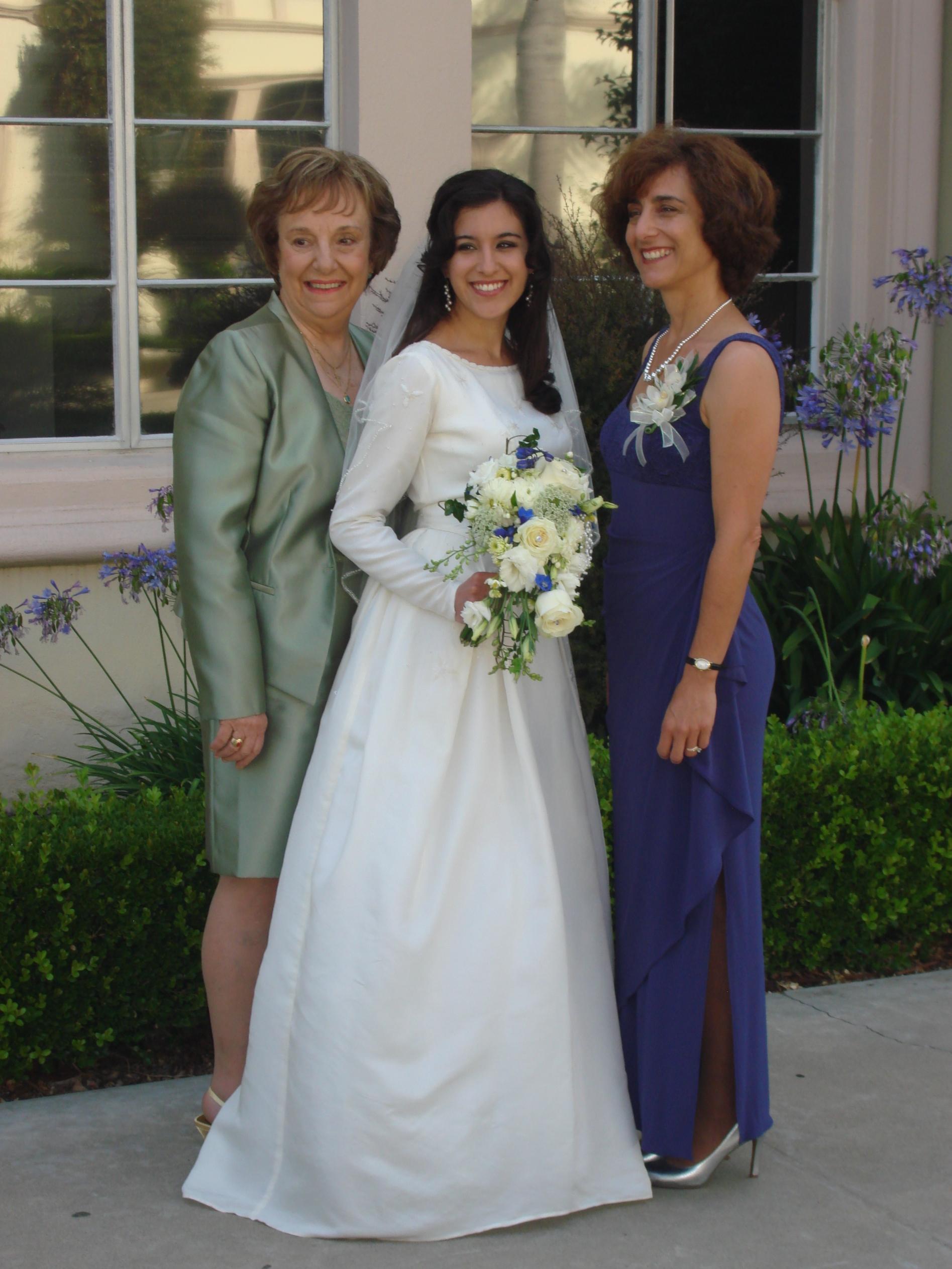 This cherished wedding dress was worn by three women.