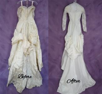 Back Of Wedding Dress Restoration