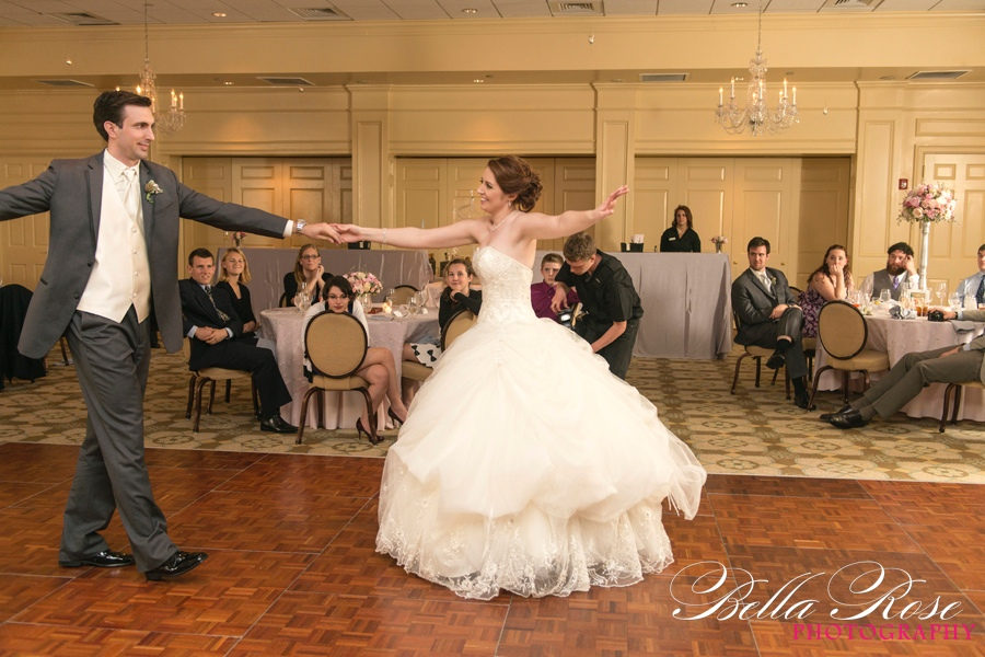 By buying her wedding dress early, Erinn was able to practice her wedding dance in her petticoat.
