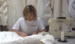 Expert Repairs are available for our wedding dress cleaning and preservation services