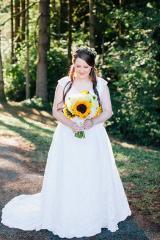 Sammie looks forward for her children to wear her wedding dress.
