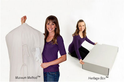 Choose your preferred for wedding gown preservation method