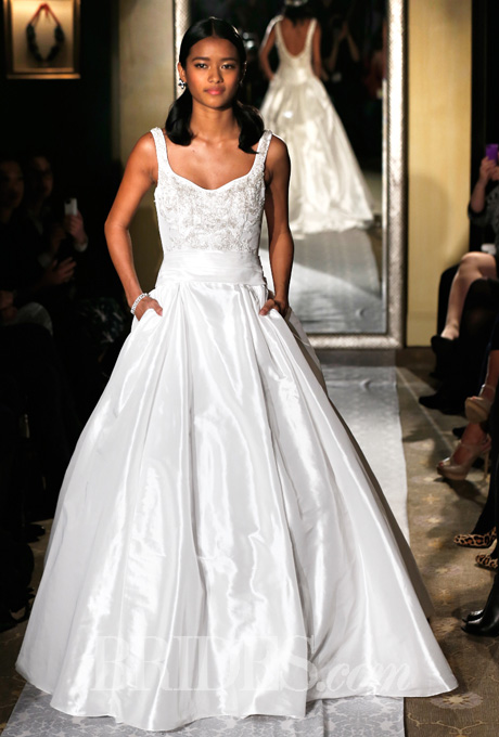 Spring 2015 Oleg Cassini gown. Courtesy of Brides.