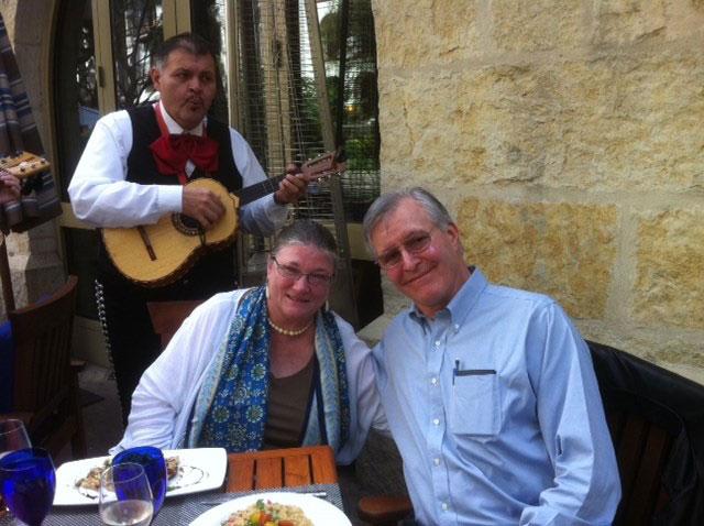 Barbara and husband Charles on 45th anniversary