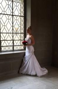 Chri Holmgren in wedding gown