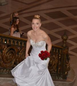 Chri Holmgren on her wedding day