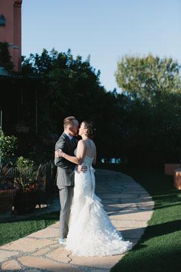 Lauren dancing in her beautiful wedding dress