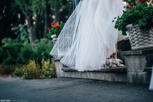 Jenna Grinberg's beautiful tulle wedding dress skirt