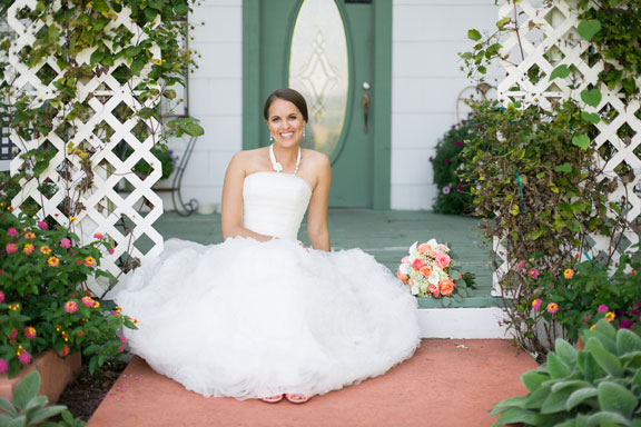 Shannon's perfect wedding dress helped to create her perfect wedding day