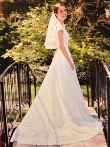 Katy's beautiful wedding dress