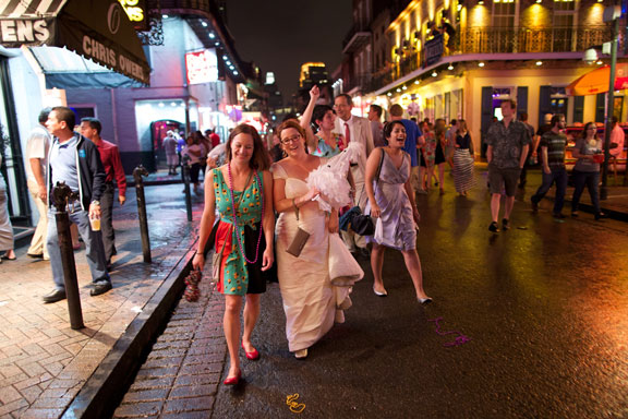 Celebrating Robin's wedding in the French Quarter