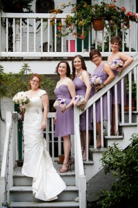 Robin N and bridesmaids for wedding dress story