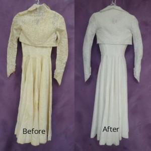 Cardinale wedding dress restoration back of gown