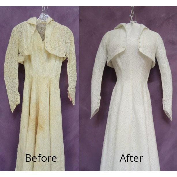 Vintage Wedding Gown Restored with Bolero