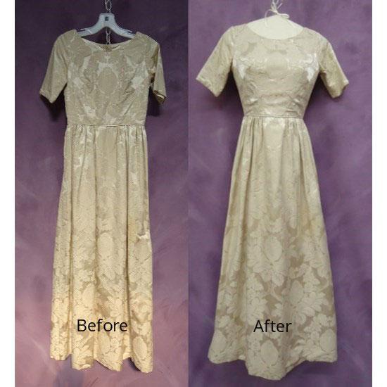 Barbara Woodhouse wedding dress restoration