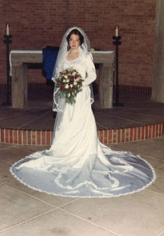 Beth Cunningham Thorson on her wedding day