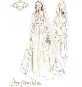 Photo: Angelina Jolie's Wedding Dress veil