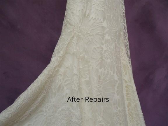 Vera Wang wedding dress repaired