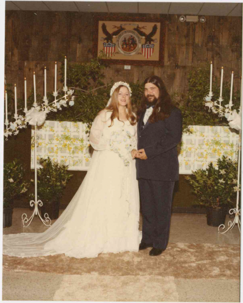 Granddaughter-in-law photo – Tina Sanderson wedding (1982)