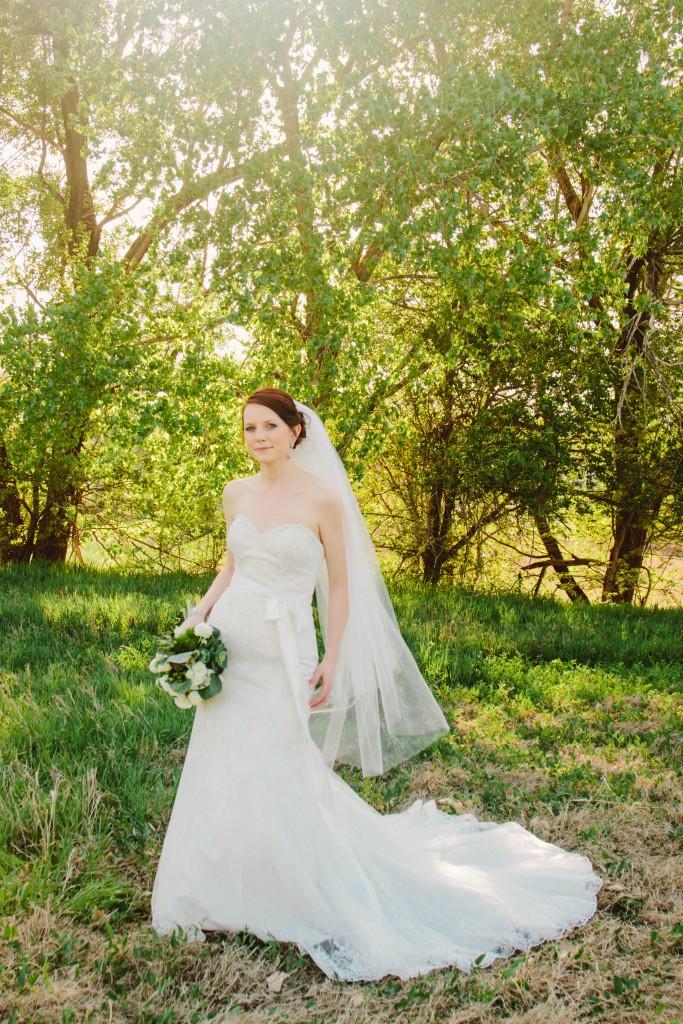 Janna S.' wedding gown