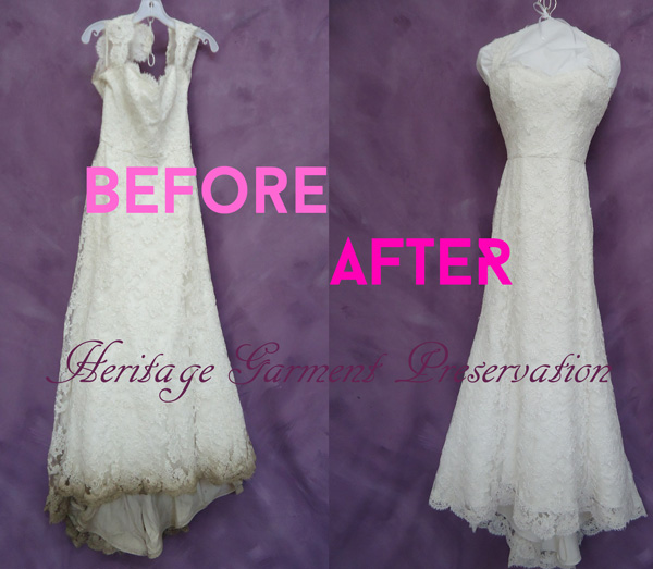 Wedding Gown Cleaning: Very Dirty Wedding Dress Cleaning
