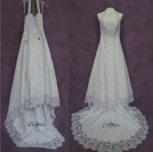Good Morning America Wedding dress cleaning test