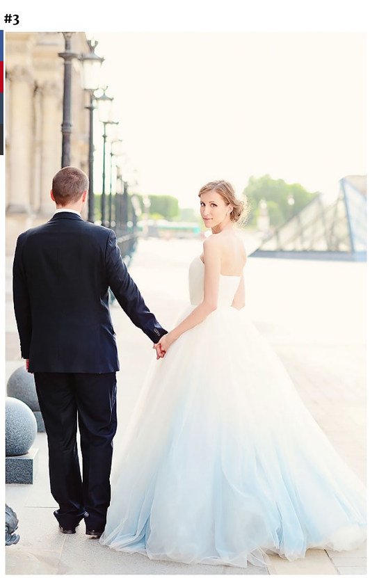 """Photo Credit: Bored Panda, """"Dip Dye Wedding Dress Trend Will Make Your Big Day More Colorful"""""""