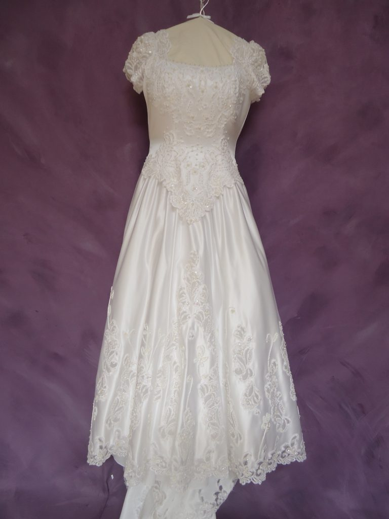 Front of wedding dress restoration gown