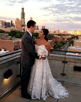 Carissa falls for wedding dress at first site. Wedding dress preservation preserves her memories.
